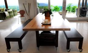 butcher block dining room table 8198