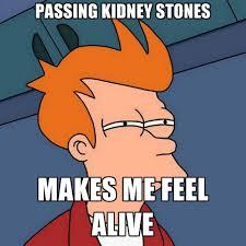 Kidney Stones Meme - passing kidney stones makes me feel alive create meme