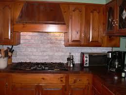 Faux Brick Kitchen Backsplash Brick Backsplash Ideas Faux Backsplashes For Kitchens White