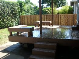 composite benches composite deck with dryspace deck masters llc portland or