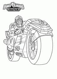 power rangers spd with motorcycle coloring page birthday ideas