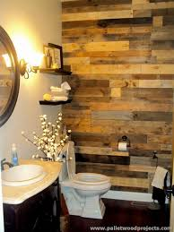 accent wall made out of pallets pallet wood projects