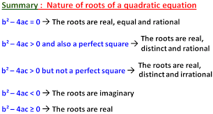 nature of roots worksheet1