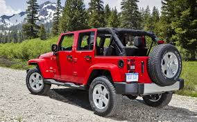red jeep jeep wrangler unlimited sahara jeep wrangler unlimited sugar rear