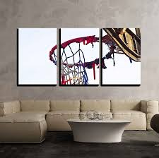 wall26 com art prints framed art canvas prints greeting wall26 3 piece canvas wall art the old basketball modern home decor stretched and framed ready to hang 24