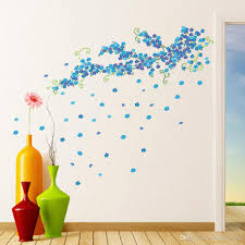 romantic love you and flower butterfly wall sticker