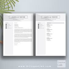resume and cover letters creative resume template cv cover letter 1 2 3 page instant