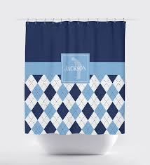 Mens Shower Curtains by Custom Golf Argyle Shower Curtain For Boys And Teens U2013 Shop