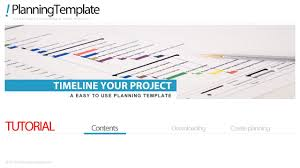 project timeline template in excel youtube