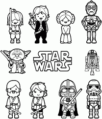 coloring pages engaging starwars coloring pages star wars little