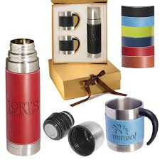 tuscany thermos coffee cups gift set leeman gifts