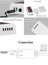 how to install led strip lights amazon com mi light rgbw led strip 2 4ghz rf wireless 4 zone