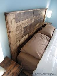 Headboards Made With Pallets Remodelaholic 50 Diy Handmade Headboards Link Party