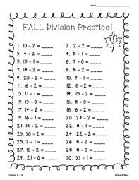 i made this pack of division worksheets for students to practice
