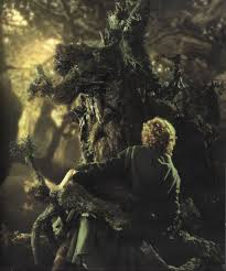 treebeard holds merry and pippin ent fangorn dominic monaghan