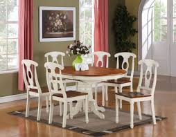 White Kitchen Set Furniture Kitchen Attractive Oval Shaped Kitchen Table And Chairs In White
