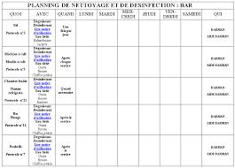 plan de nettoyage et d駸infection cuisine plan de nettoyage cuisine haccp 28 images plan de nettoyage