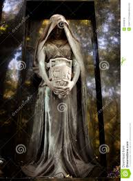 cemetery statues statue of ancient angel on cemetery stock photo image of