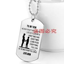 Personalized Dog Tag Necklace Mother Son Pendant Picture More Detailed Picture About
