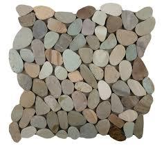 emser tile flat venetian pebbles 12 x 12 mosaic tile in pastel