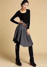 Wool Skirts For Winter Spruce Up Your Wardrobe With This Gray And Houndstooth Layered