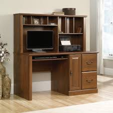 Sauder Harbor View Computer Desk With Hutch Antiqued Paint by Get A Computer Desk With Hutch For Pain Free Computer Work