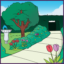 Colouring Of Kitchen Garden Drawing For Kids Vegetable Garden Drawing