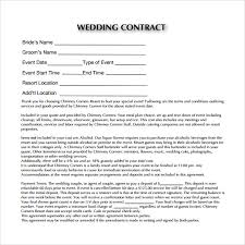 Makeup Contracts For Weddings Wedding Contract Template Makeup Artist Contract Template