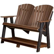 Adirondack Chair Place Card Holders Wildridge Tall Double Adirondack Bench Rocking Furniture