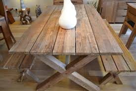 Indoor Teak Furniture Reclaimed Teak Plank Dining Set Bentota Bench