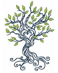 trees machine embroidery designs