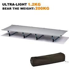 Portable Folding Bed Cing Mat Ultralight Sturdy Comfortable Portable Folding Tent