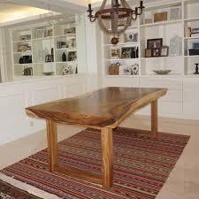 Natural Slab Dining Table Suar Slab Wooden Tables Natural Cut Meh Tables Mehwood
