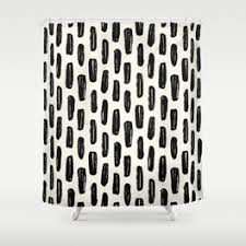 Black And White Vertical Striped Shower Curtain Stripe Shower Curtains Society6