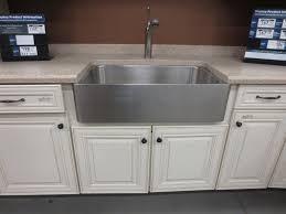 Farm Sinks For Kitchen Kitchen Stainless Steel Kraus Farmhouse Sink With White Kitchen