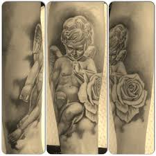 18 best angel and roses tattoo images on pinterest rose tattoos