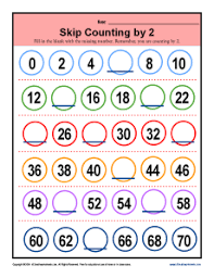 skip counting by 2 worksheets 2nd grade math printable