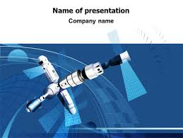satellite free powerpoint template backgrounds 07849
