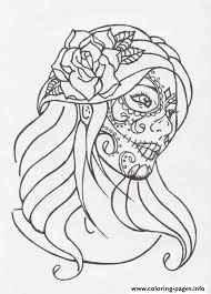 coloring pages tattoos best 25 sugar skull ideas on pinterest skull makeup