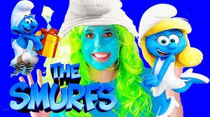 smurf movie makoever bad makeup funny dress smurfs lost
