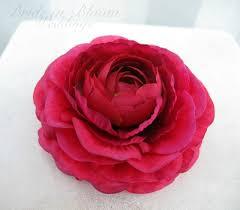 flower for hair wedding hair accessories hot pink flower hair pins in bloom
