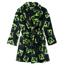 Minecraft Bathroom Accessories Boys 6 12 Minecraft Creeper Fleece Robe