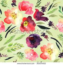 floral gift wrapping paper bright watercolor floral seamless floral background stock