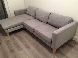 Karlstad Sofa And Chaise Lounge by Karlstad Ikea Three Seat Sofa Isunda Grey Posot Class