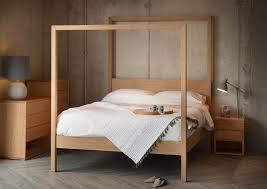 oasis contemporary 4 poster bed natural bed company