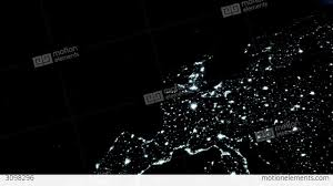 World At Night Map Earth Zoom 3d Animation Zoom To Earth At Night Stock Animation