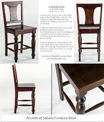 solid wood tuscan dining room counter chairs at accents of salado