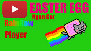youtube easter egg nyan rainbow youtube