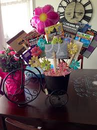 tickets gift card s day bouquet in bicycle planter including gifts cards