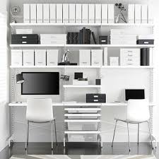 Office Desk Store White Elfa Décor Freestanding Office The Container Store